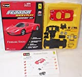 Race and play assembly kit red ferrari enzo car 1.43 scale diecast model
