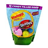 Candy Filled Easter Eggs for Egg Hunt Includes Starburst and Skittles (12-Count) by Candy Filled Easter Eggs