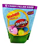 Candy Filled Easter Eggs for Egg Hunt Includes Starburst and Skittles (12-Count)