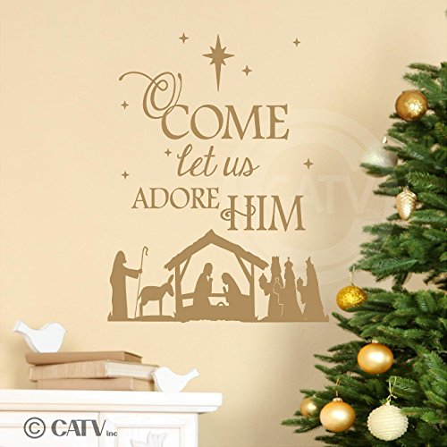 Oh Come Let Us Adore Him Wood Signs Christmas Signs Wood: Nativities