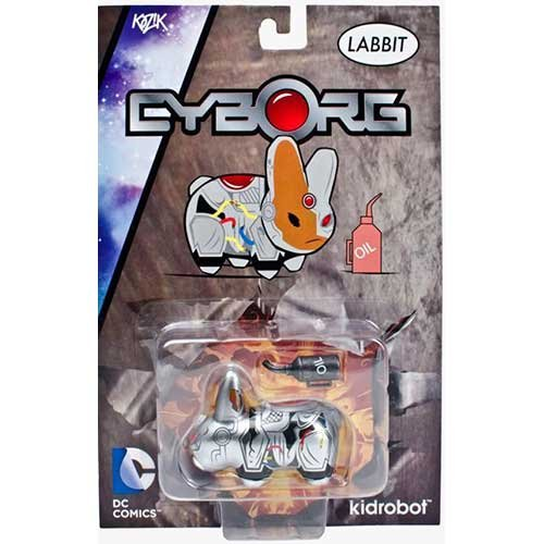 Kidrobot X DC Universe Cyborg Labbit Vinyl Figure!