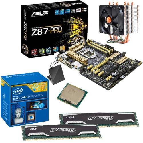 INTEL Core i7 4770K OC 4.2Ghz, ASUS Z87-PRO, 16GB 1600Mhz DDR3 Crucial Ballistix Sport Memory & ThermalTake Contac21 Cooler OVERCLOCKED Bundle