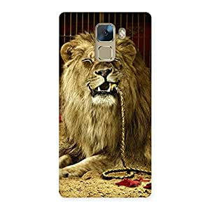 Cute Dude Lion Multicolor Back Case Cover for Huawei Honor 7