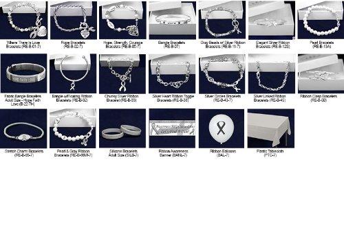 Gray Ribbon Bracelet Fundraising Kit (192 Items)