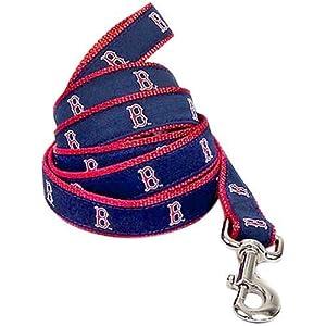 Sporty K9 Boston Red Sox Dog Leash, 6-Feet by 1-Inch