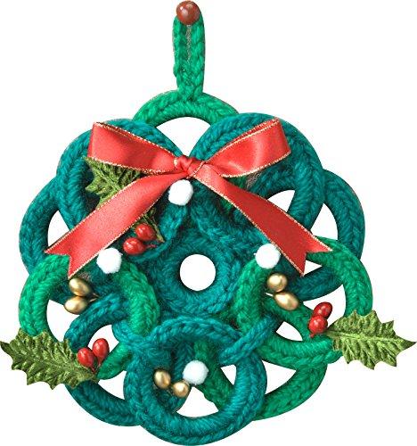 ハマナカ 編み物キット クリスマス リング使いのリース 壁掛け H301-487