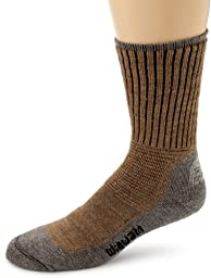 Wigwam Men\'s Hiking/Outdoor Pro Crew Socks, Khaki/Heather, Large