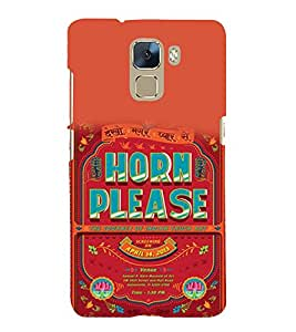 printtech Quotes Horn Please Back Case Cover for Huawei Honor 7