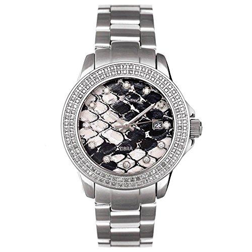 Reloj de mujer de Joe Rodeo Diamond - Plata ZIBRA 1.25 CTW
