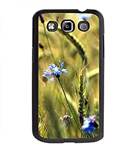 Printvisa Ultra Blue Flowers 2D Hard Polycarbonate Designer Back Case Cover for Samsung Galax...