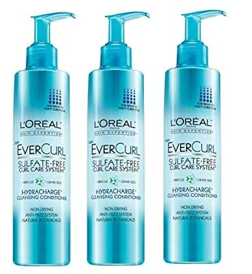 3 Pk, L'Oreal Paris EverCurl Hydracharge Cleansing Conditioner, 8.3 fl oz