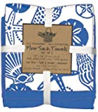 Kay Dee Designs Blue Shells Flour Sack Towels, Set of 3