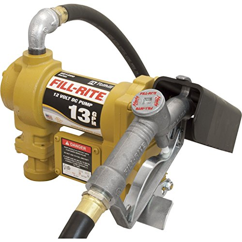 Fill-Rite-SD1202G-12V-DC-Fuel-Transfer-Pump-With-Explosion-Proof-ULcUL-Listed-14-HP-Motor-And-10-Ft-Static-Wire-Hose-And-Manual-Nozzle-With-Suction-Pipe