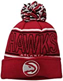 NBA Atlanta Hawks Men's Energy Stripe Cuffed Knit Pom, One Size, Red