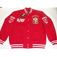 Buy New Red & White Kappa Alpha Psi Snap up Fraternity Racing Style Jacket by Big Boy Gear