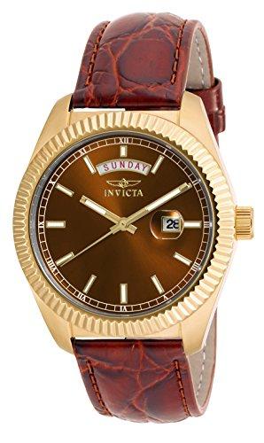 INVICTA para mujer 18274 Angel analógica reloj infantil de cuarzo con  correa de piel color marrón para mujer reloj infantil de cuarzo con marrón  esfera ... 0aa49cd633a8