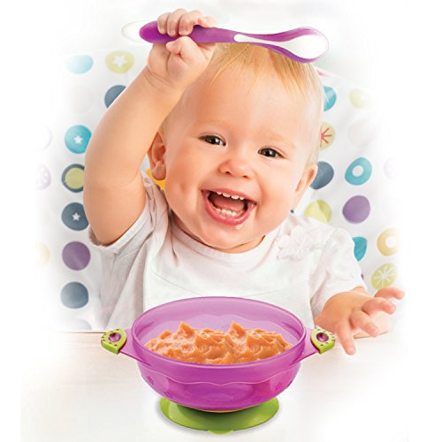 BabieB – BEST Baby Feeding Spoons BPA Free Non-Stick-Soft Tip-Eco Friendly-High Quality-Ergonomic Design-Color Changing-Heat Sensitive-Curved-Gift Set-Lifetime Guarantee
