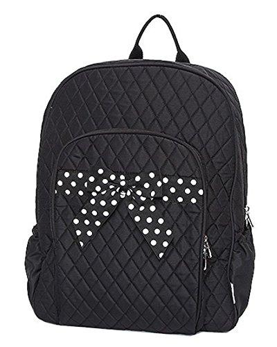Black Backpack Diaper Bag front-1077095