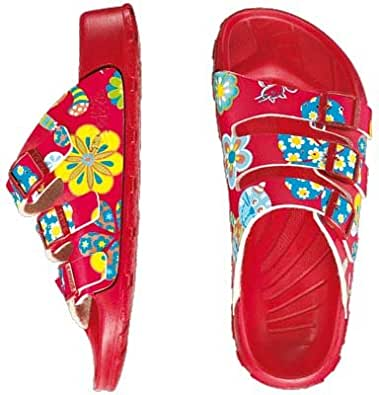 Amazon.com: Birki ''Cuba'' from Birko-Flor in Cats and Flowers Red 40