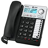 AT&T ML17929 2-Line Corded Telephone, Black (Color: Black, Tamaño: One Size)