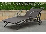 LISBON RESIN WICKER AND STEEL PATIO or PORCH CHAISE LOUNGE - PATIO FURNITURE