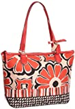 Coach Poppy Floral Scarf Print Small Tote Bag 25123 Sky Neutral