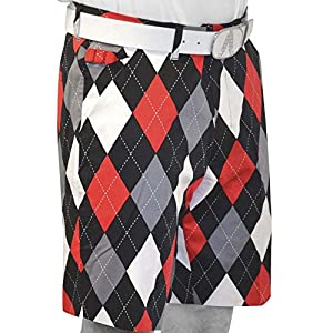 Royal & Awesome 34 Men's Loud Diamonds in the Rough Shorts Golf