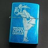 zippo WINDY バレル加工 ブルー 2013年製造