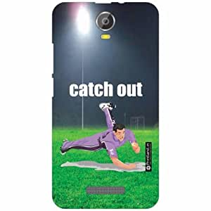 Micromax Canvas Juice 2 Back Cover - Silicon Catch Out Designer Cases