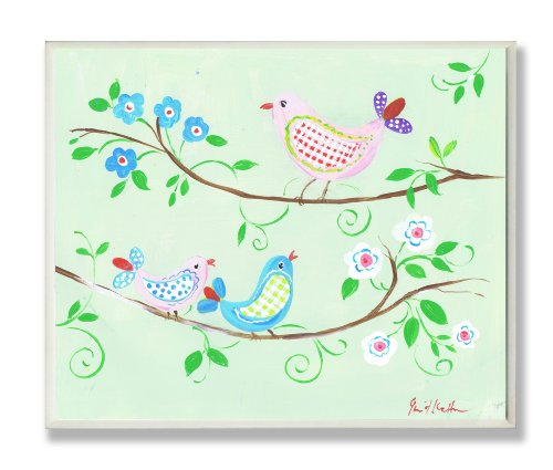 The Kids Room by Stupell Birds on Branches Rectangle Wall Plaque