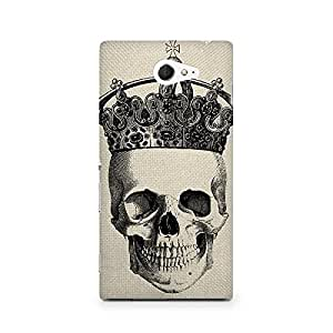 Mobicture Skull Abstract Premium Printed Case For Sony Xperia M2 S50h