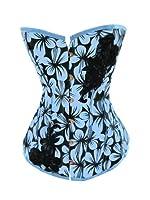 Design* Blue Summer Orchid Tropical Corset