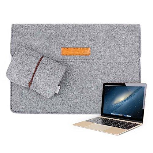 Inateck 12インチ インナーケース Apple New MacBook 12/ウルトラブック/ネットブック用 プロテクターケース [カラー: グレー]