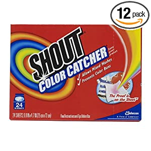 Shout Color Catcher, 24 Count  (Pack of 12)