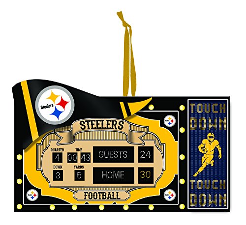 Team Sports America Polystone Pittsburgh Steelers Scoreboard Ornament by Evergreen Enterprises, Inc.