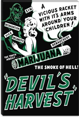 Marijuana, Devils Harvest Vintage Movie Poster Giclee Canvas Art Print #5081 61″x41″ (1.5″ Deep)