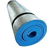 YSTD EVA Foam Extra Thick Camping Picnic Pad Yoga Mat Exercise Sleeping Outdoor Mattress Beach Cushion--blue