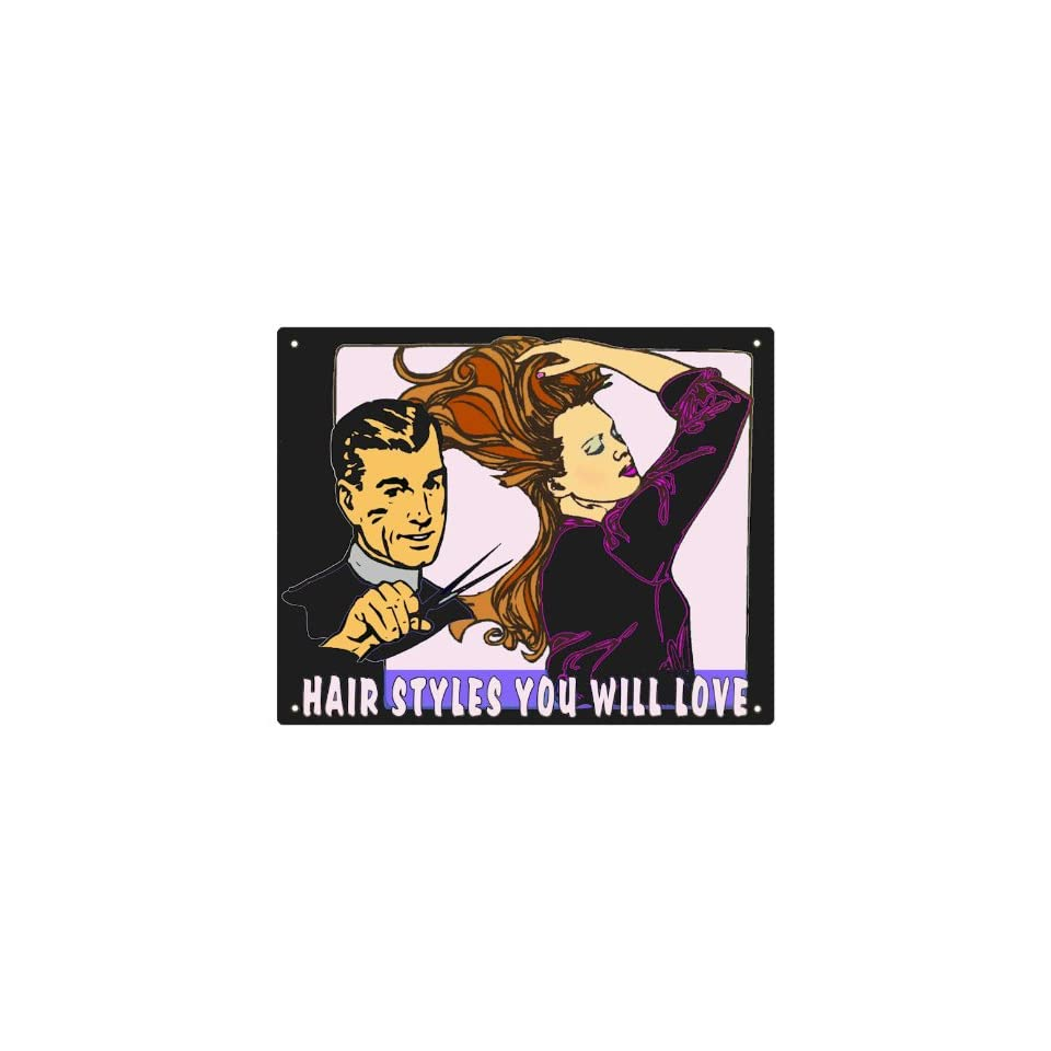 beauty salon Barber shop Sign Hair stylist / retro wall decor