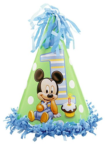 Mickey's 1st Birthday Fringe Cone Hat