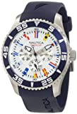 "Nautica Mens N12627G NST 07 ""Flags"" Stainless Steel Watch"