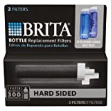 Brita Hard Sided Water Filter Bottle Replacement Filters, 2 ea