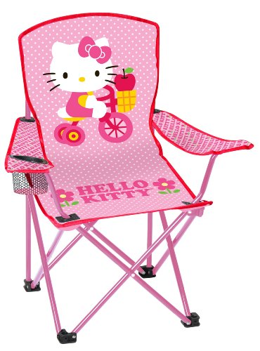 Hello-Kitty-Youth-Folding-Chair-with-Armrest-and-Cup-Holder