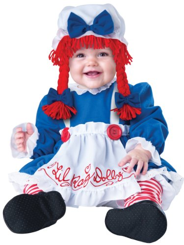 Raggedy Ann Costume - Lil Rag Dolly Costume (12-18 months with Bracelet for Mom) (Toddler Raggedy Ann Costume)