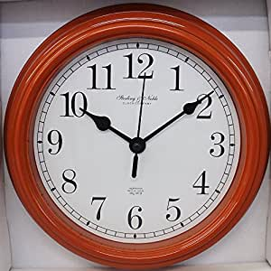 Amazon Com Sterling Amp Noble Orange Wall Clock 8 75 In