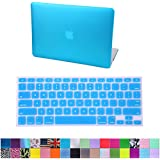 "HDE Matte Hard Shell Clip Snap-on Case + Matching Keyboard Skin for MacBook Air 13"" - Fits Model A1369 / A1466 (Teal)"