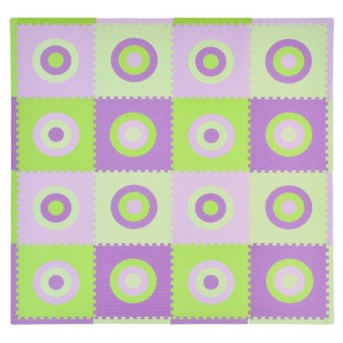 Tadpoles 16 Piece Squared Playmat Set, Green/Purple
