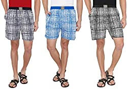 7thStreet Printed Men's Cotton Boxer Short (Pack of 3)