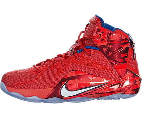 Nike Kids Lebron XII (GS) Lt Crmsn/White/Brght Crmsn/Mid Basketball Shoe 6.5 Kids US (All Lebron James Shoes compare prices)