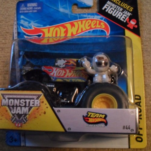 monster jam hot wheels off road team hot wheels fire storm includes monster jam figure