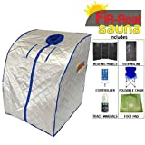FIR-Real Far Infrared Portable Sauna w/ Tourmaline - Carbon Panels - Foot Pad